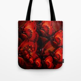 Inner Glow 4 Spiral Red Tote Bag