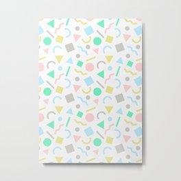 Retro Pattern (Pastels) Metal Print