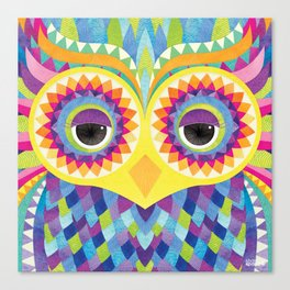 Rave the Owl Canvas Print