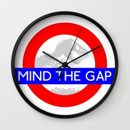 LONDON UNDERGROUND : JURASSIC PARK & MIND THE GAP Wall Clock