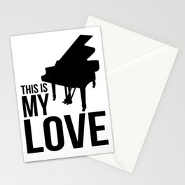 Pianist, music Stationery Cards