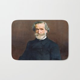 Giuseppe Verdi (1813 – 1901) by Giovanni Boldini (1842 - 1931) Bath Mat