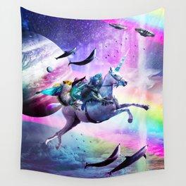 Bearded Dragon Frog Squirrel On Rainbow Unicorn Wall Tapestry