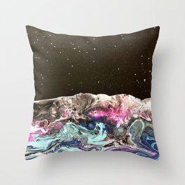 Starry night at sea Throw Pillow