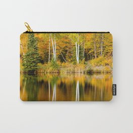 Autumn Reflections - Birch trees on Lake Plumbago Carry-All Pouch