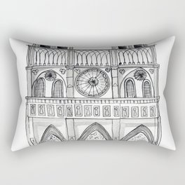 Notre Dame Sketch Rectangular Pillow