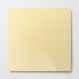 Lemon Drop and White Polka Dots Metal Print
