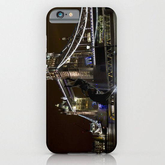Girl and dolphin and Tower Bridge iPhone & iPod Case