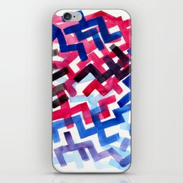 Colorful Watercolor Painting Pattern African tribal Pattern Abstract Art Mid Century Modern iPhone Skin