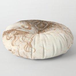 Leonardo da Vinci - Head of Leda Floor Pillow