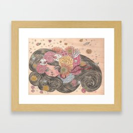 the spring breeze Framed Art Print