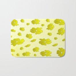 Falling Yellow Flowers Bath Mat