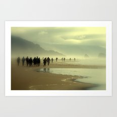Walk on the Ocean - Beach Life Art Print