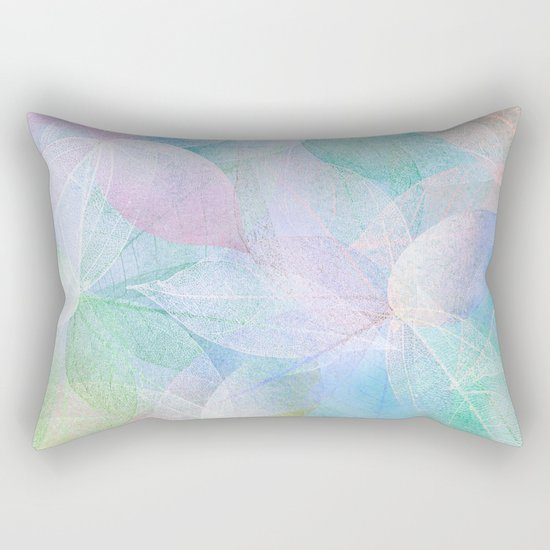 Pastel Colored Leaf Skeletons Rectangular Pillow