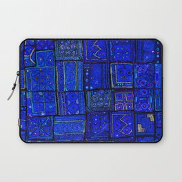 -A2- Lovely Calm Blue Traditional Moroccan Pattern Artwork. Laptop Sleeve