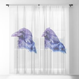 Crow Sheer Curtain