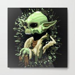 Skull Yoda Jedi Master  Metal Print