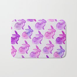 Watercolor Bunnies 1D by Kathy Morton Stanion Bath Mat