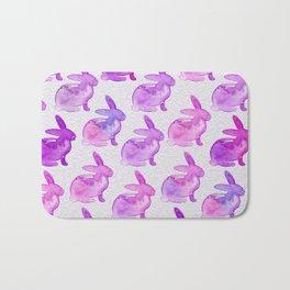 Watercolor Bunnies 1D by Kathy Morton Stanion Bath Mat
