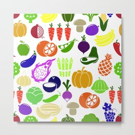 vegetables and fruits Metal Print
