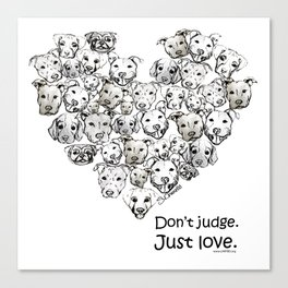 Just Love. (black text) Canvas Print