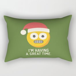 White Knuckle Christmas Rectangular Pillow