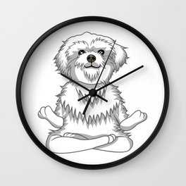 Paws and Meditate Wall Clock