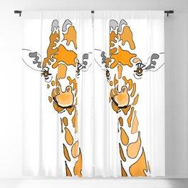 Patchwork Giraffe Blackout Curtain