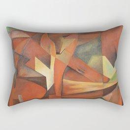 Foxes - Homage to Franz Marc (1913) Rectangular Pillow