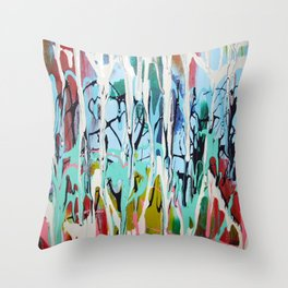 Paint Drip Throw Pillow