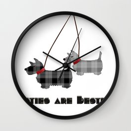 Westies are Besties Wall Clock