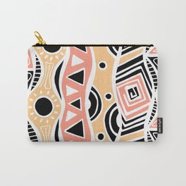 Four Waves - Black Orange Yellow Carry-All Pouch