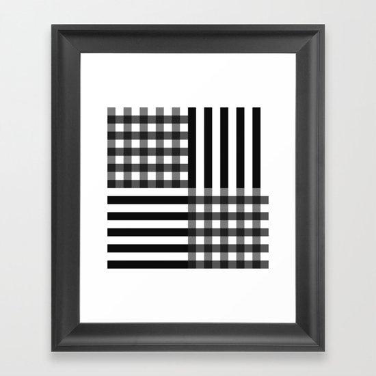 monochrome pattern  Framed Art Print