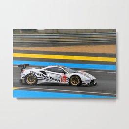 488 GTE Sports Motor Racing Car 2019 Metal Print