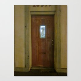 Alone With My Red Door Canvas Print