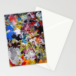 Artist palette Stationery Cards