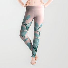Eucalyptus Leaves Green Blush Vibes #1 #foliage #decor #art #society6 Leggings
