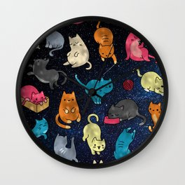 Space cats Wall Clock