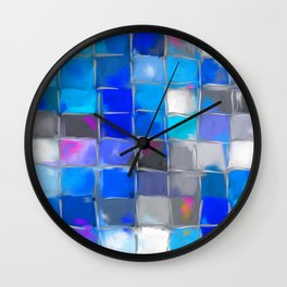 Mosaic / Abstract Art ' BLue SKieS ' BY SHiRLeY MacARTHuR Wall Clock