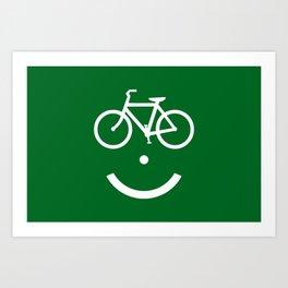 Bike Lane :) Art Print