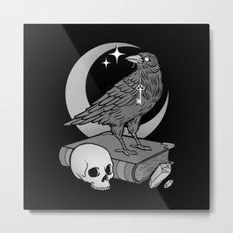 Occult Crow Metal Print