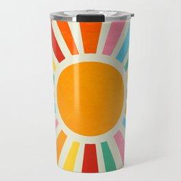 Retro Sunrise: Rainbow Edition Travel Mug