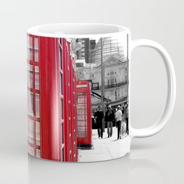 """Classic Britain"" Telephone Booths Coffee Mug"