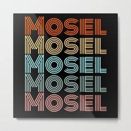 Mosel Retro Style Pfälzer Moselaner Metal Print
