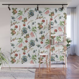 Antique Floral Pattern Wall Mural