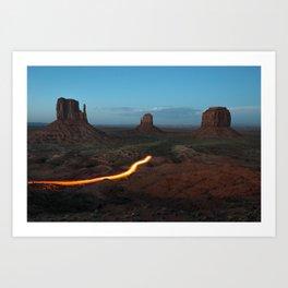 Monument Valley Streak Art Print