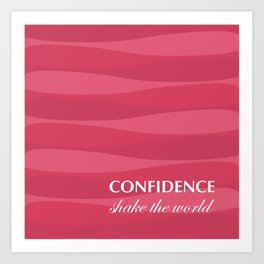 Red for Confidence Art Print