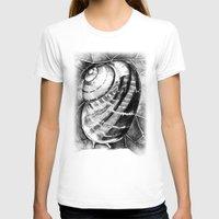 snail T-shirts featuring Snail by MARIA BOZINA - PRINT
