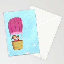 Hot Air Love Ballon Stationery Cards