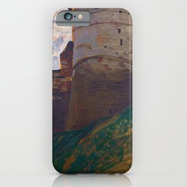 Nicholas Roerich - The Fortress Tower, Nizhny Novgorod - Digital Remastered Edition iPhone Case